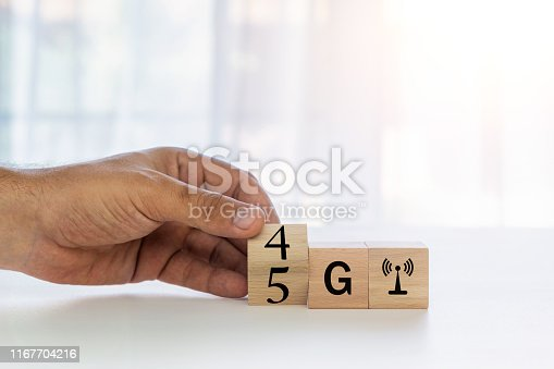 istock New 5G technology concept. evolution of wireless technology 1167704216