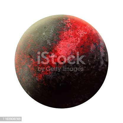 istock New 9 planet discovery. Ninth gas giant opening. Solar System - new planet. Isolated planet on white background. High resolution beautiful art presents planet of the solar system. 3D illustration. 1163906265