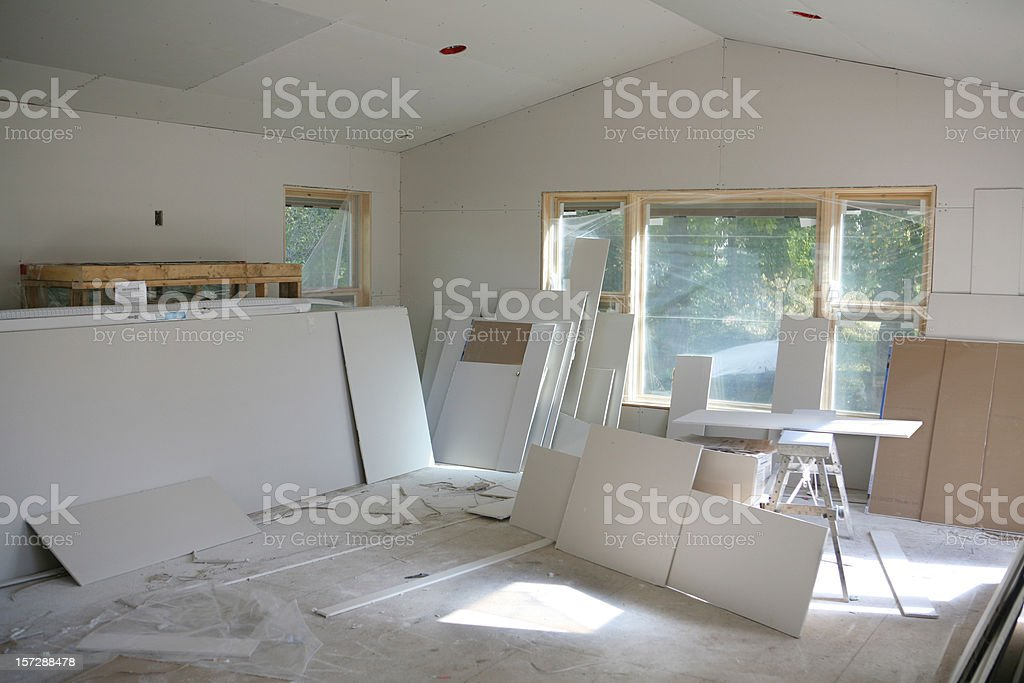 New Addition Drywall royalty-free stock photo