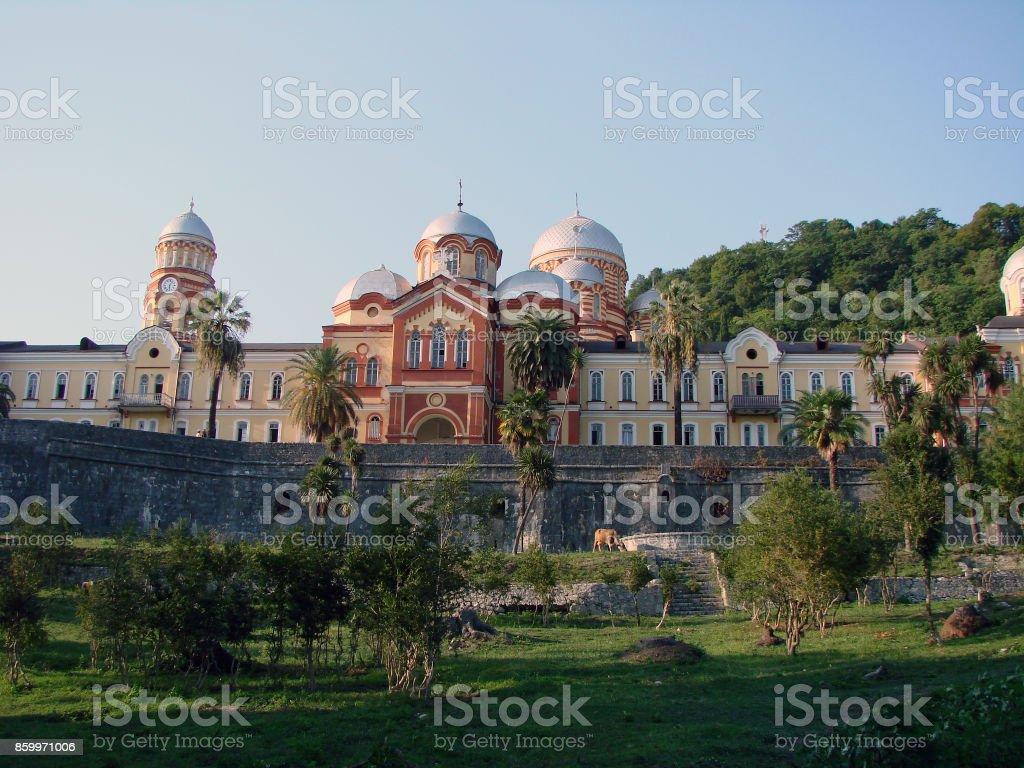 New Afon monastery, Abkhazia stock photo