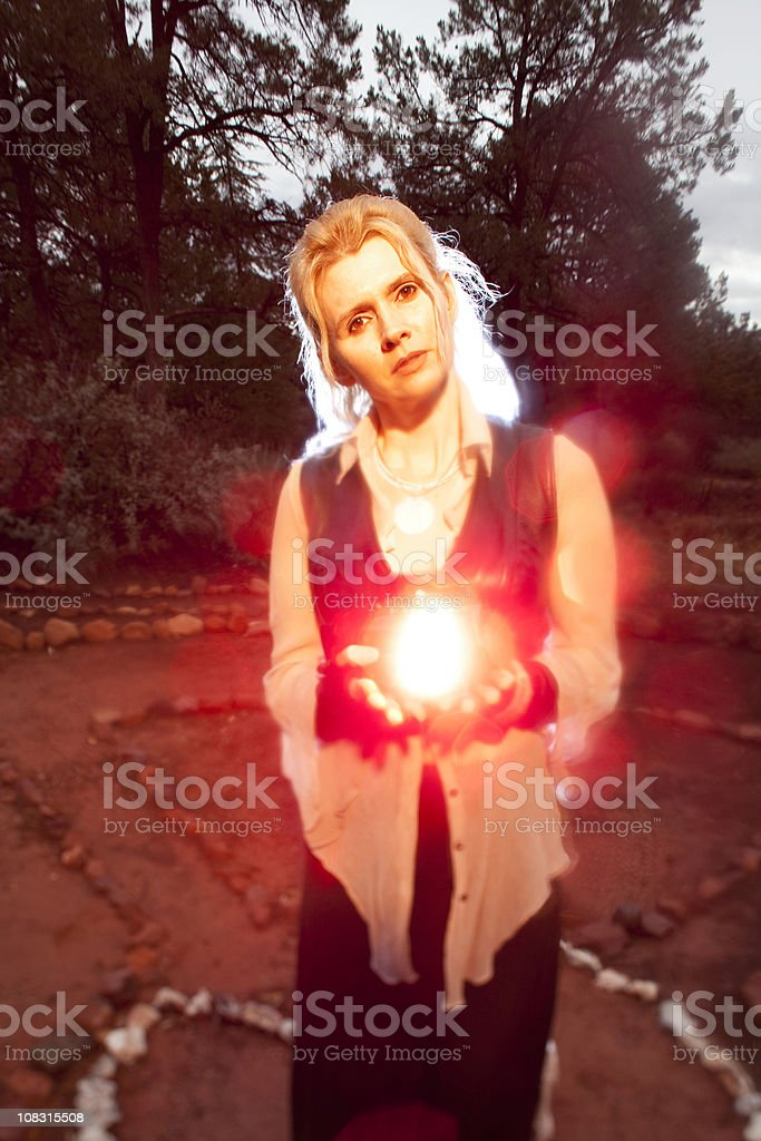 New age woman stock photo