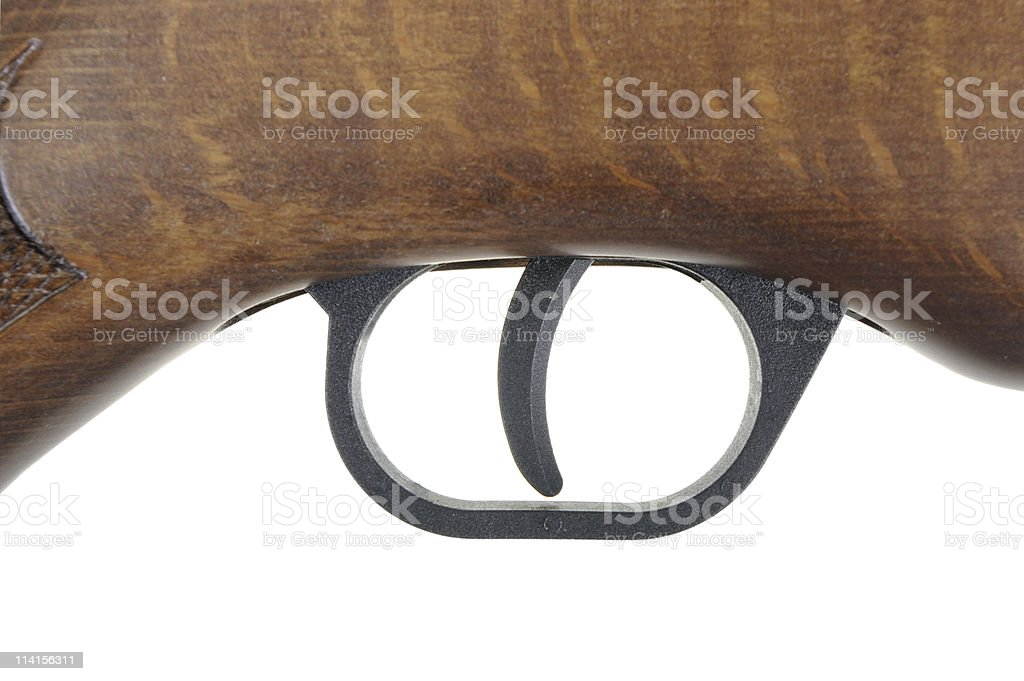 New Air Rifle Stock And Trigger Detail royalty-free stock photo