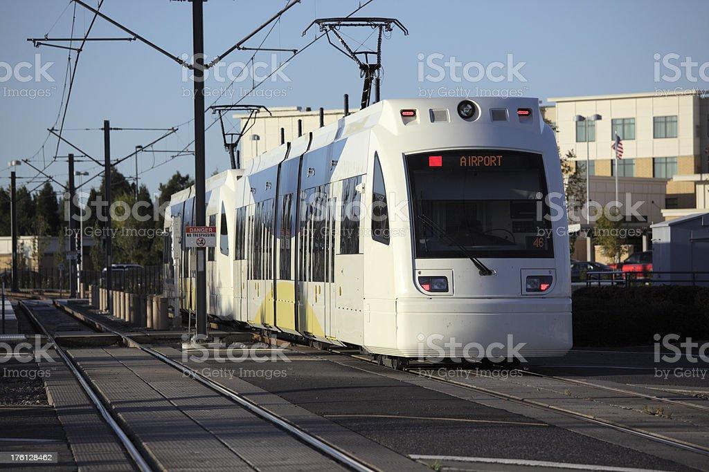 New Airport Train. stock photo