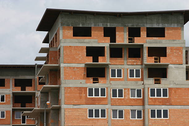 New All-Brick Building stock photo