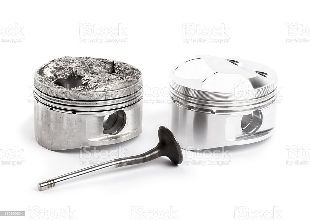 New and broken piston royalty-free stock photo