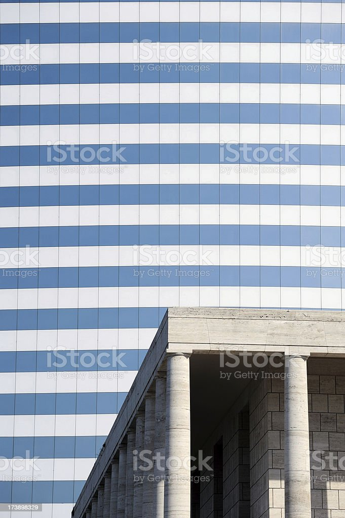 New and Classical architecture stock photo