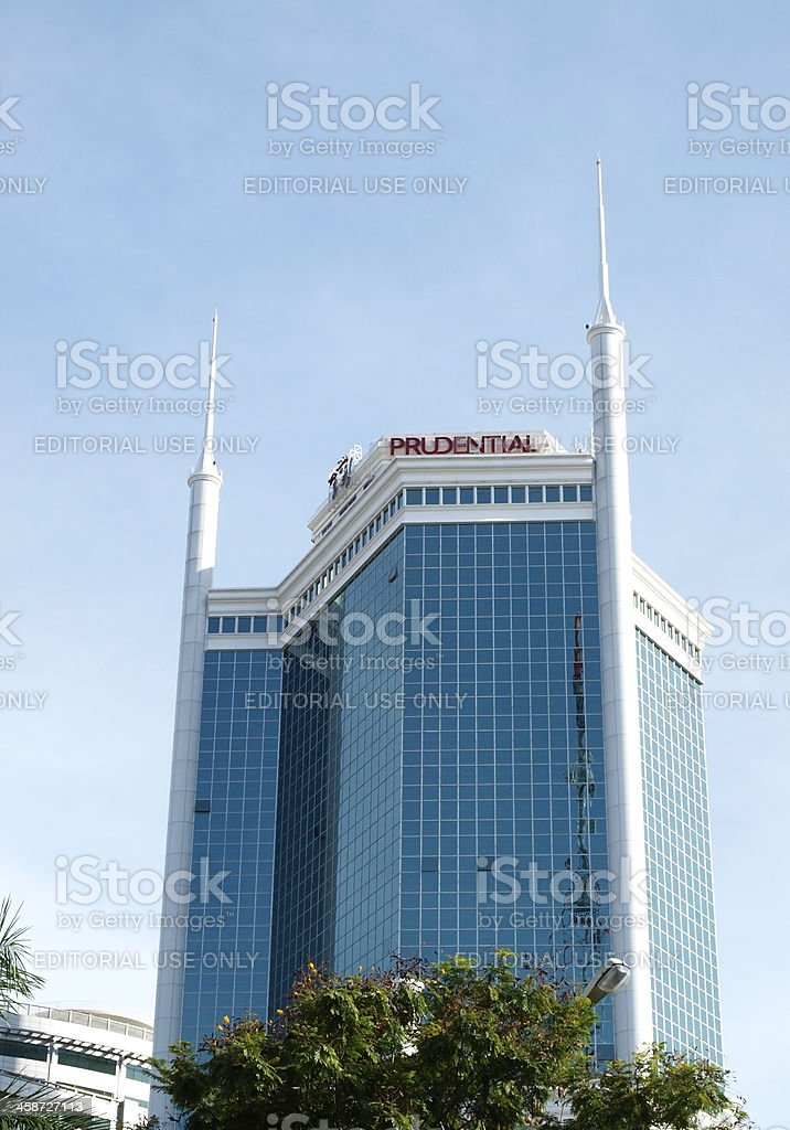 New and modern building in Ho Chi Minh City stock photo