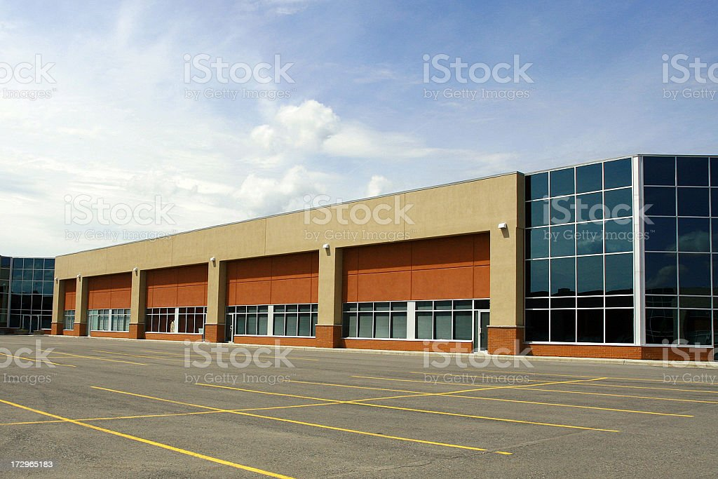 New and Modern Industrial Lofts Building royalty-free stock photo