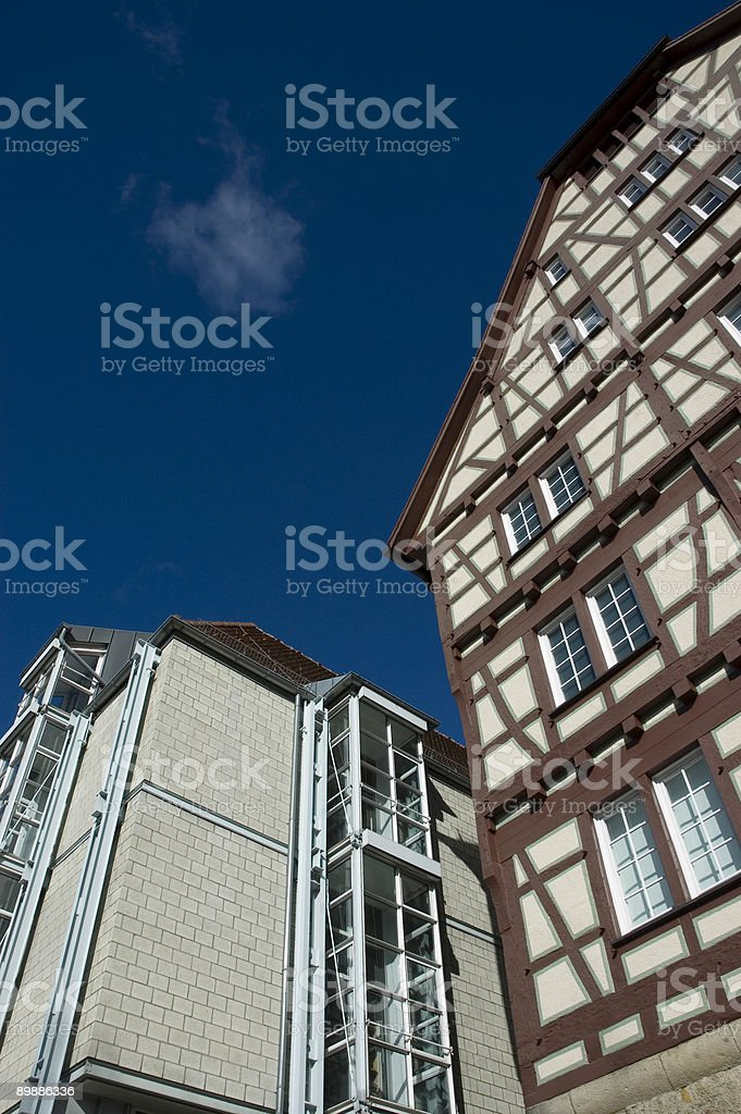 new and old architecture royalty free stockfoto