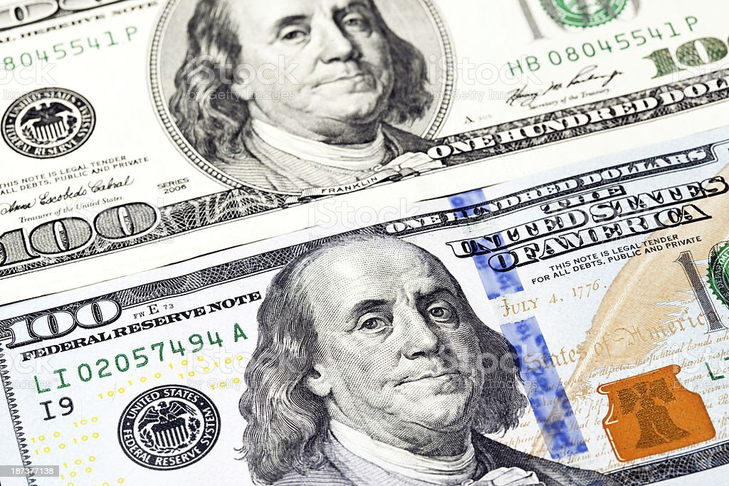 New And Old Us 100 Bills Stock Photo - Download Image Now
