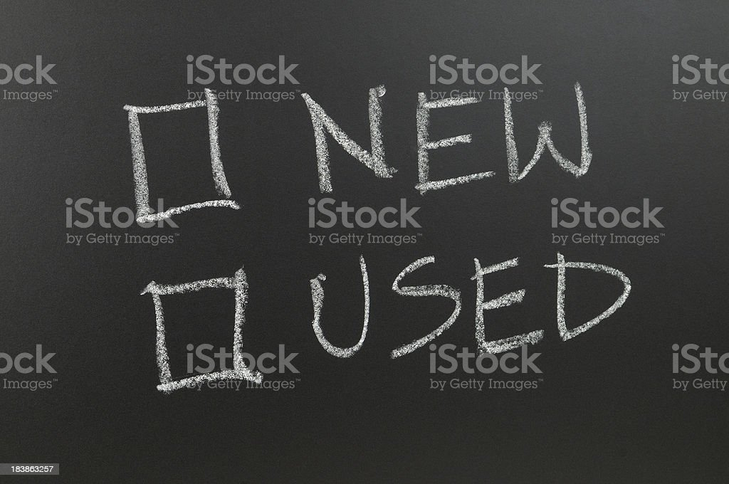 New and Used Checkbox royalty-free stock photo