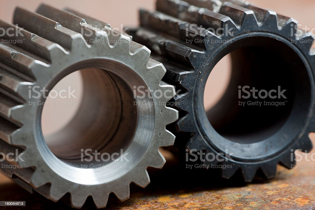 new and used gears: Help royalty-free stock photo