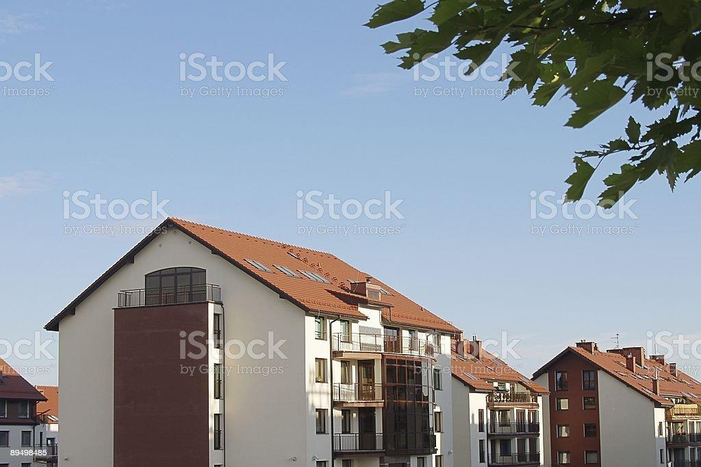 New apartment building royaltyfri bildbanksbilder