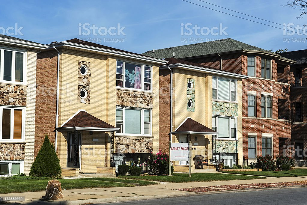New apartment buildings in Mount Greenwood, Chicago royalty-free stock photo