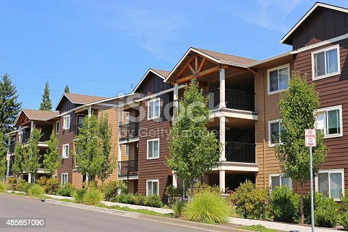 istock New apartment complex in suburban neighborhood 485857090