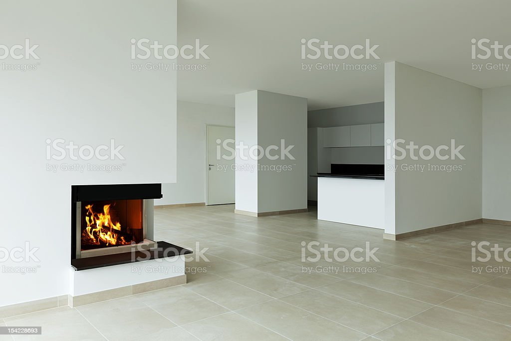 new apartment, living room royalty-free stock photo