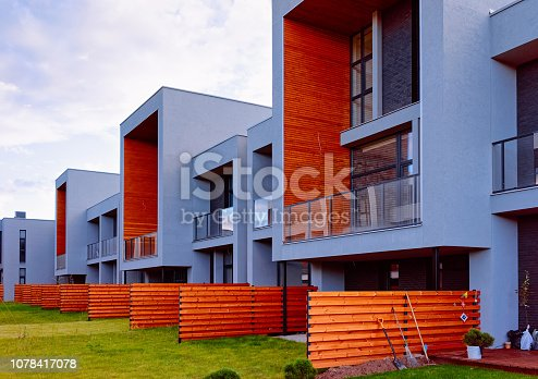 istock New apartment residential townhouse buildings with outdoor concept 1078417078