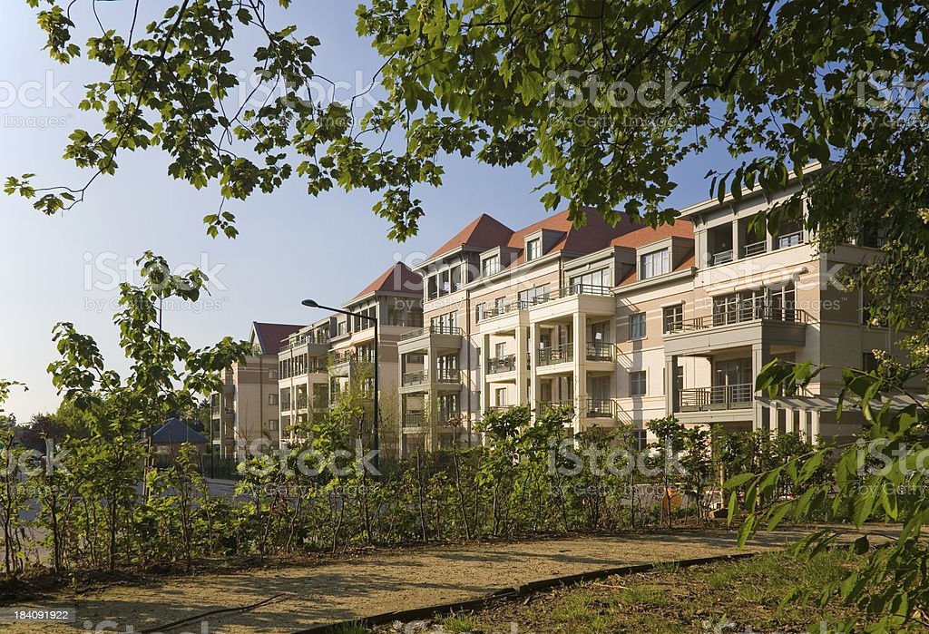 New apartment site in green royalty-free stock photo