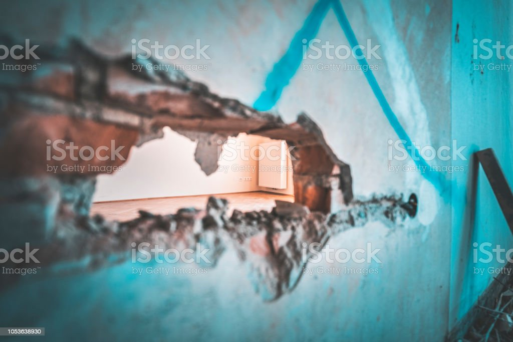 Hope for new apartment through hole