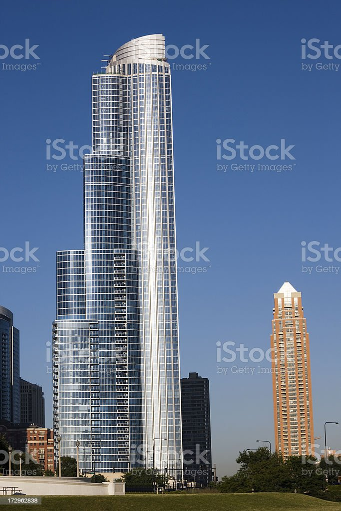 New Apartment Tower in Chicago royalty-free stock photo