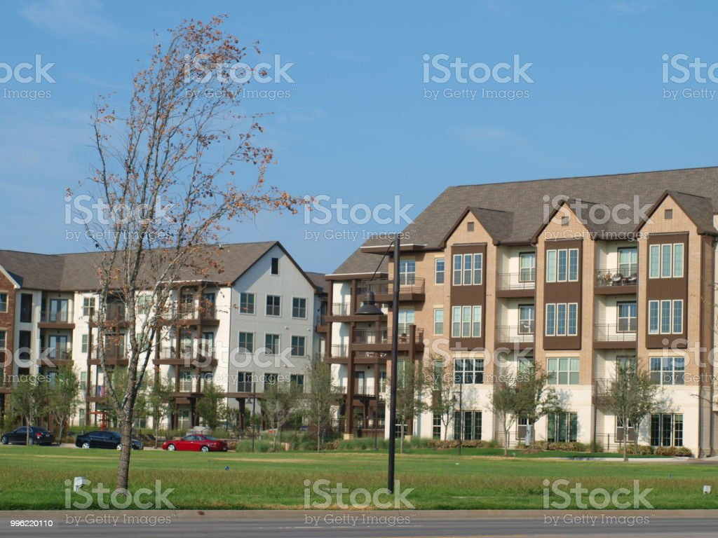 New Apartments Designed with English Green stock photo