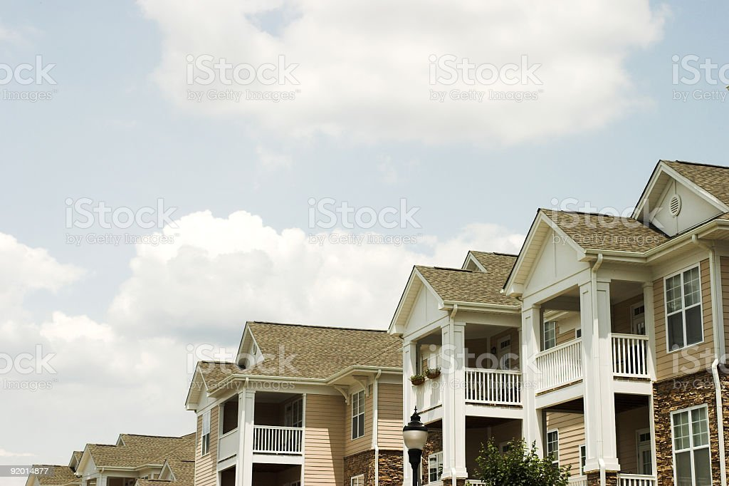 New apartments for young movers stock photo