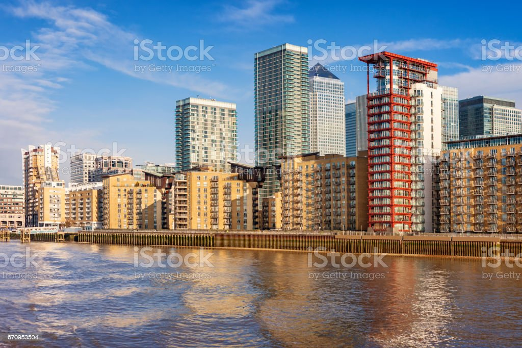 New Apartments in London England UK stock photo