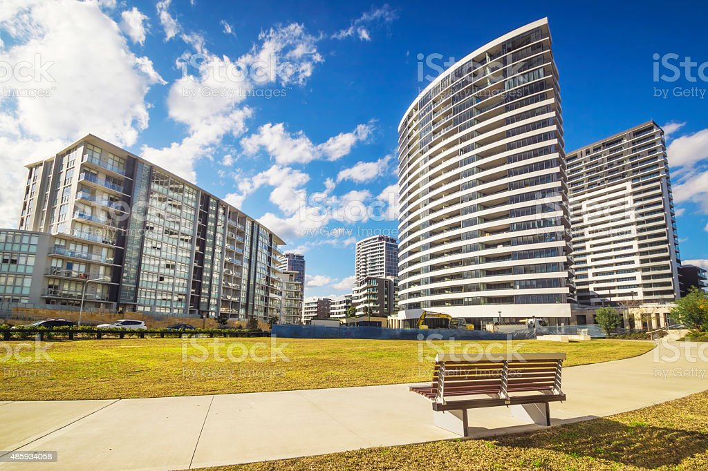 New apartments in Rhodes, Sydney stock photo
