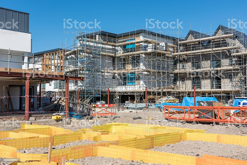 New apartments under construction stock photo