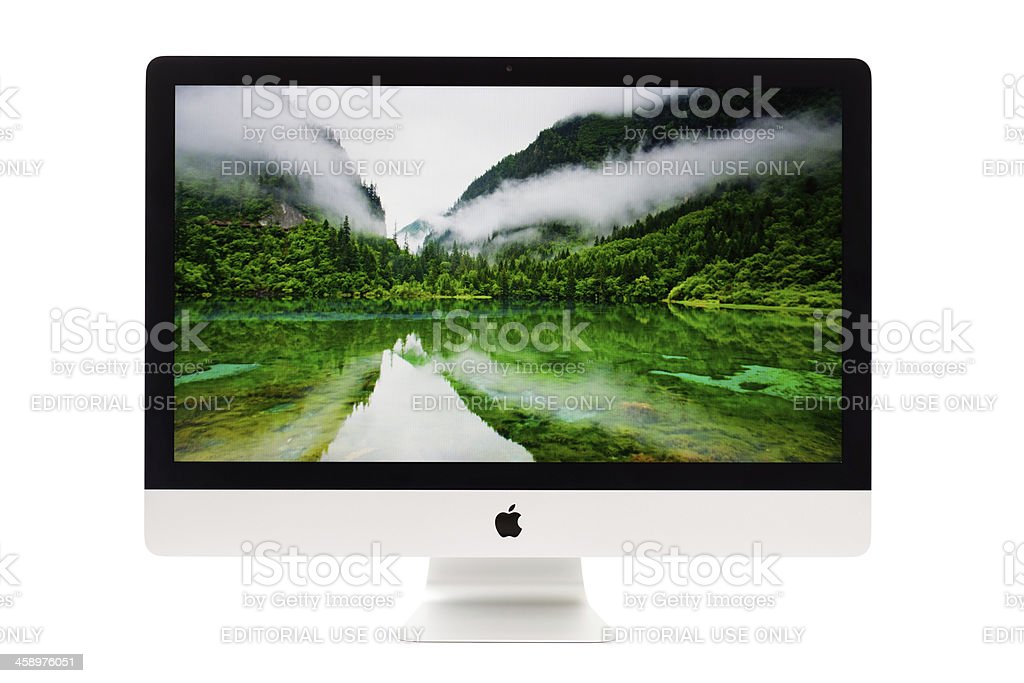New Apple iMac 2012 royalty-free stock photo