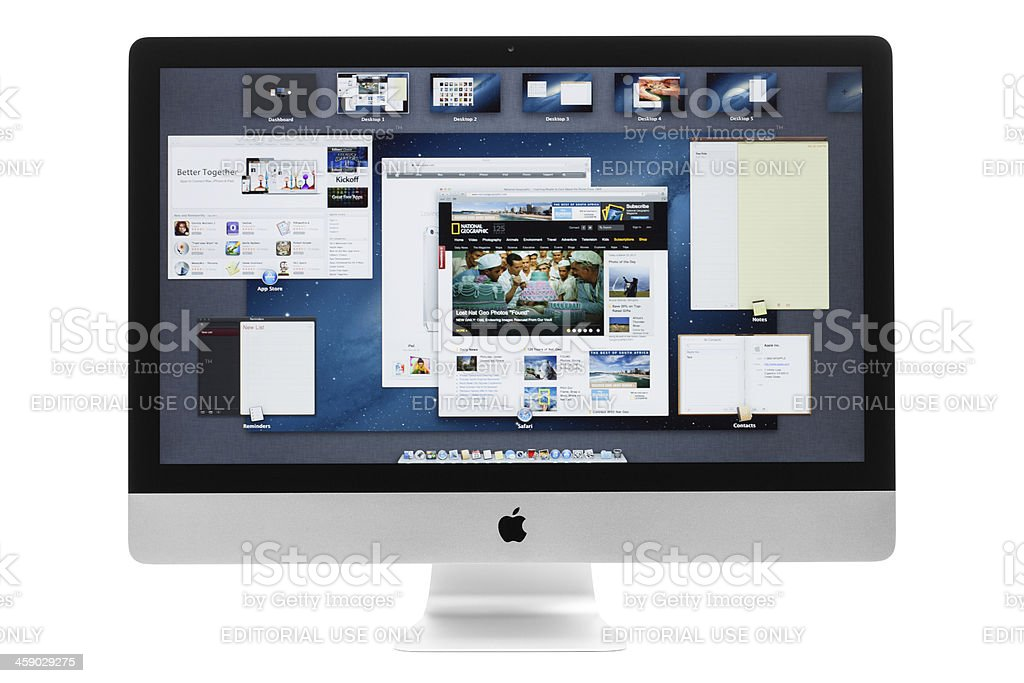 New Apple iMac with Mission Control royalty-free stock photo