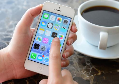 New Apple iOS 7  on iPhone 5