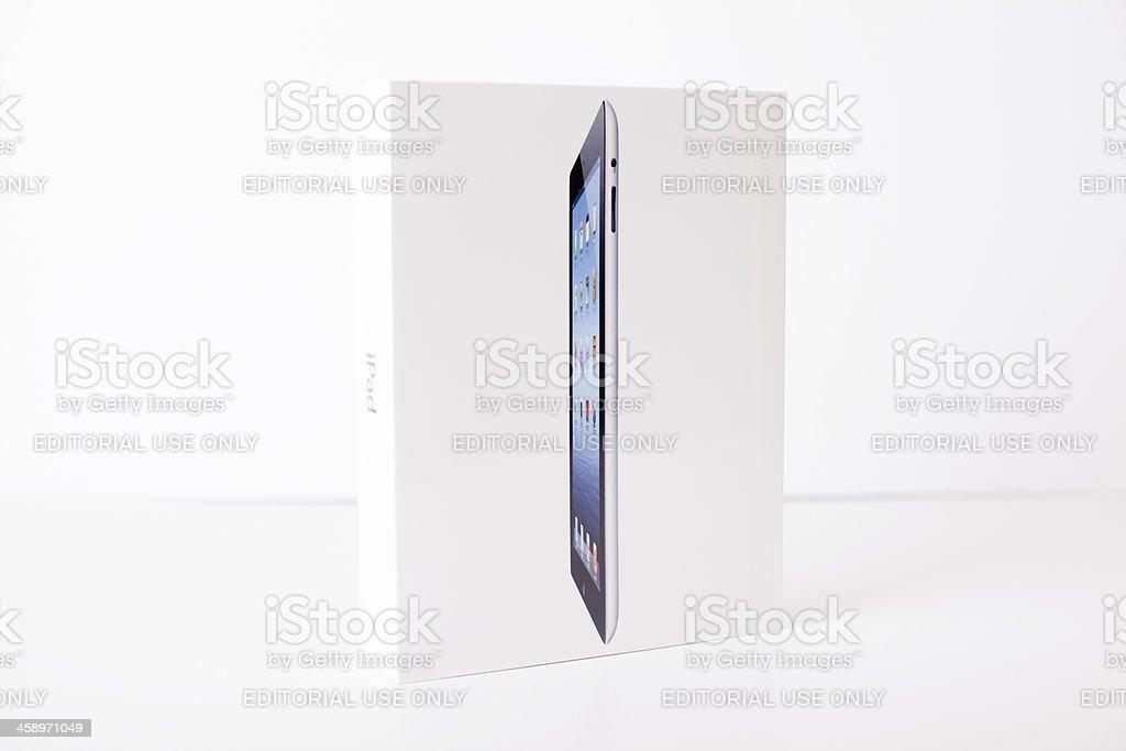 New Apple iPad 3rd Generation, 64GB, Black, Wi-Fi stock photo