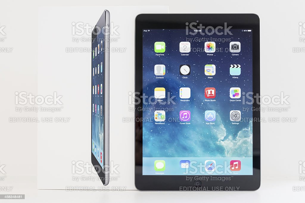 New Apple iPad Air Space Grey 32GB Wifi royalty-free stock photo