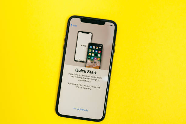 New Apple Iphone X flagship smartphone stock photo