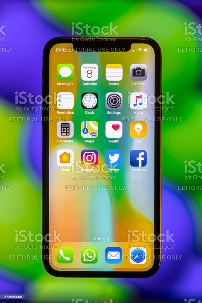 Nuevo Apple IPhone X - foto de stock