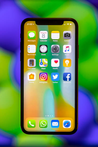 Nuevo Apple IPhone X - foto de stock