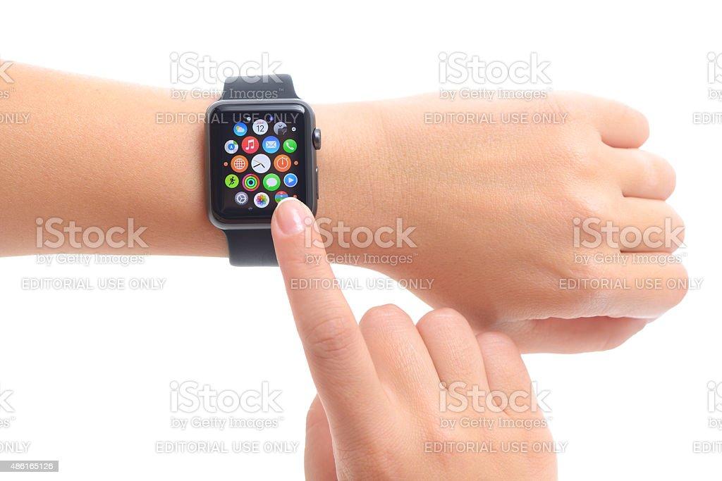 New Apple Watch Sport stock photo