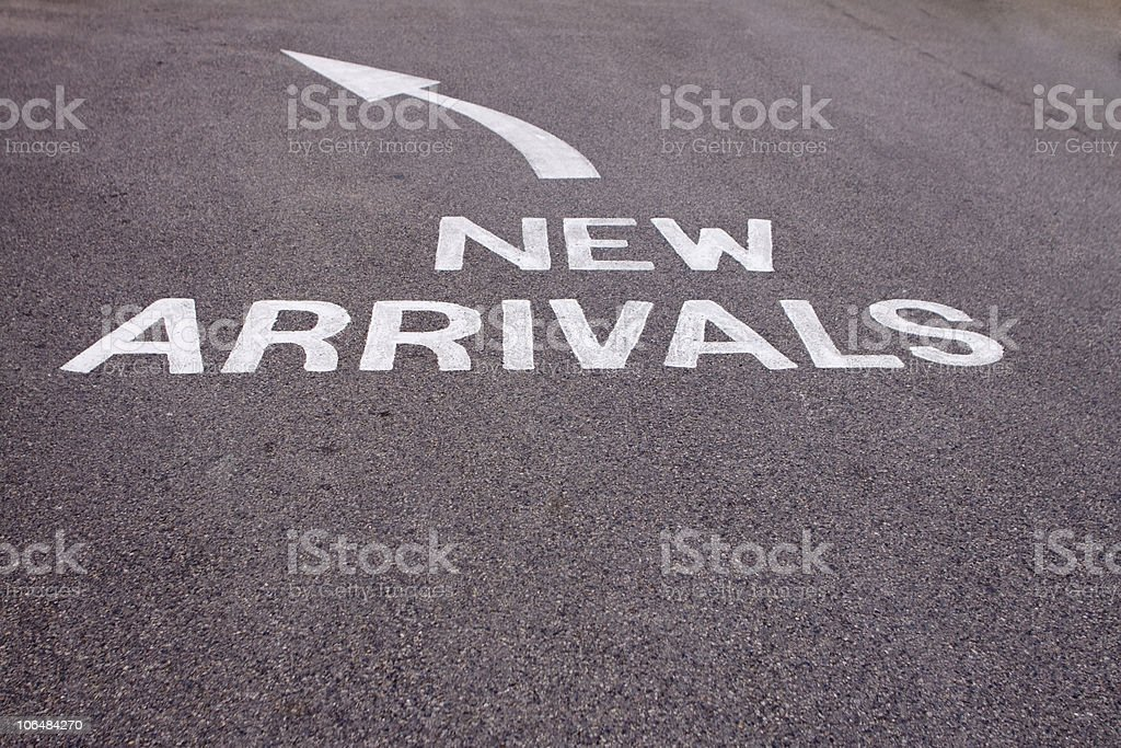 New arrivals Road Marking royalty-free stock photo