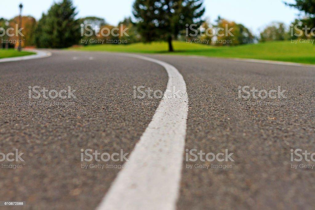 new asphalt cover in the park stock photo