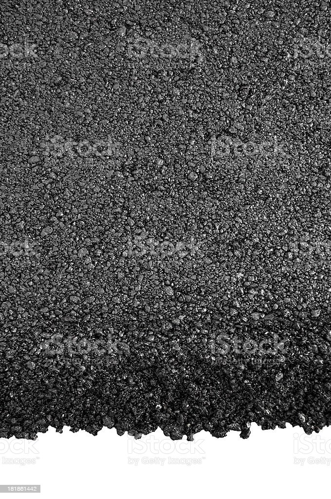 New asphalt isolated stock photo