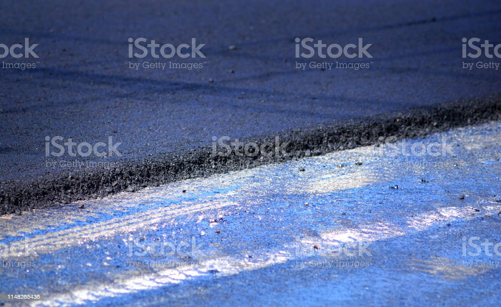New asphalt pavement background