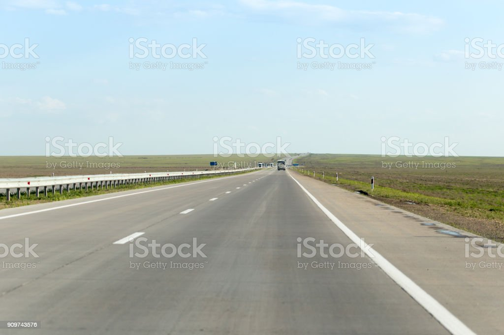 new asphalt road on nature stock photo