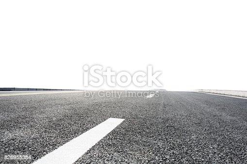 621693226istockphoto new asphalt road on white background 826955384