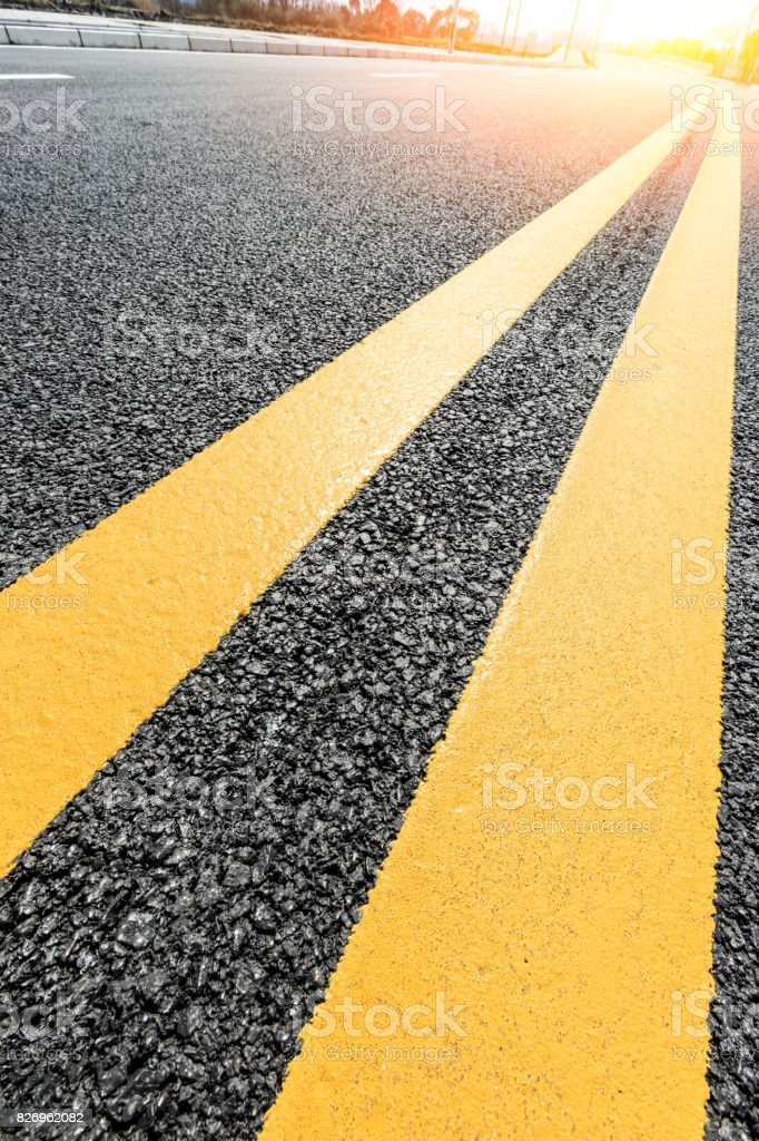 New asphalt road texture background stock photo