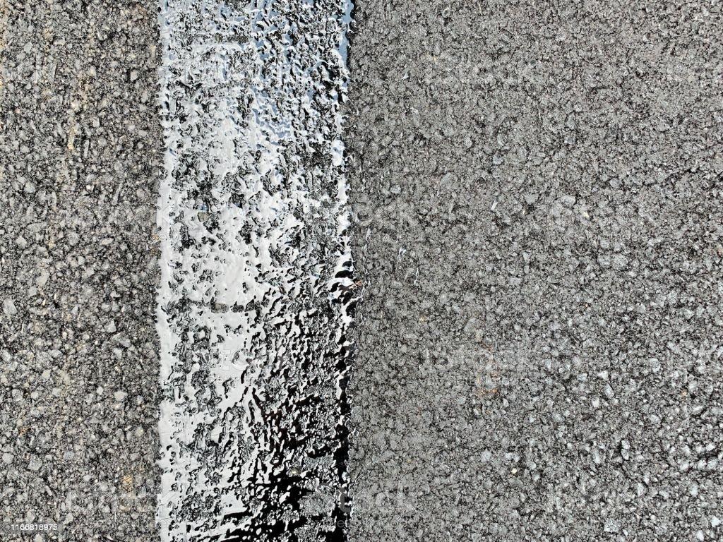 City street with new asphalt