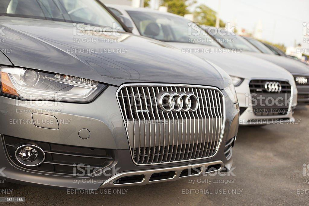 New Audi Cars at Dealership royalty-free stock photo