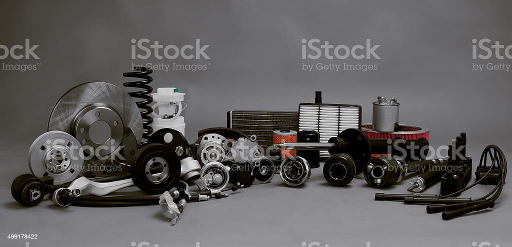 New auto parts stock photo