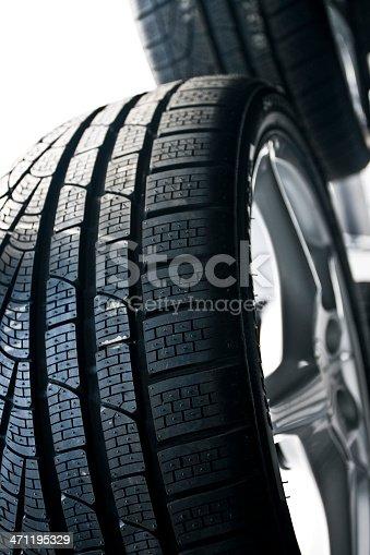istock New automobile tires 471195329