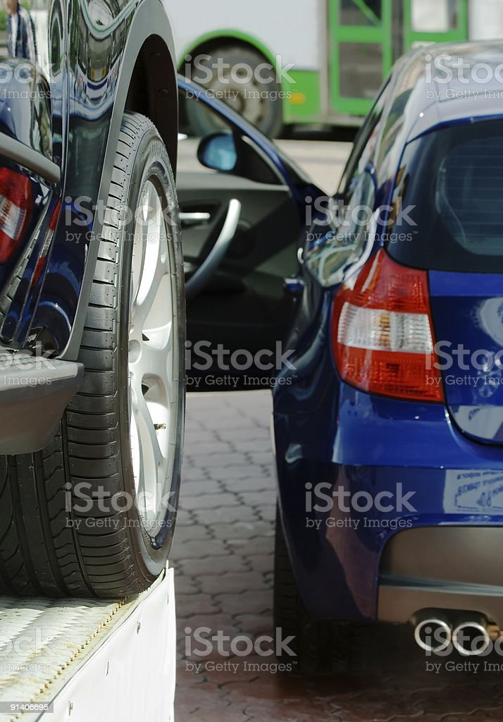 New automobiles for sale. royalty-free stock photo